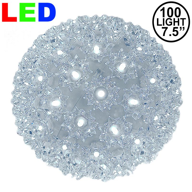 "Picture of 100 Pure White LED 7.5"" Sphere"