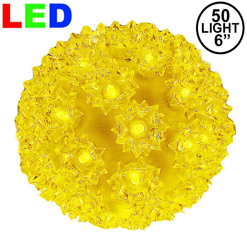 "Picture of 50 Yellow LED 6"" Sphere"