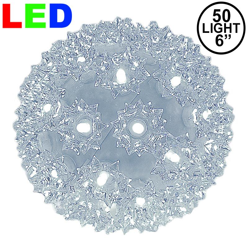 "Picture of 50 Pure White LED 6"" Sphere"