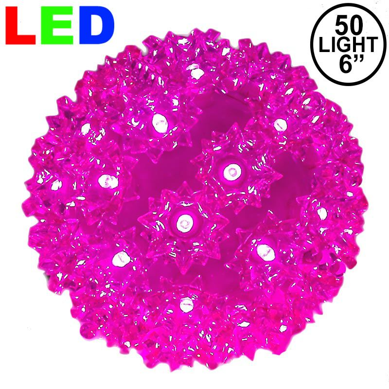 "Picture of 50 Pink LED 6"" Sphere"