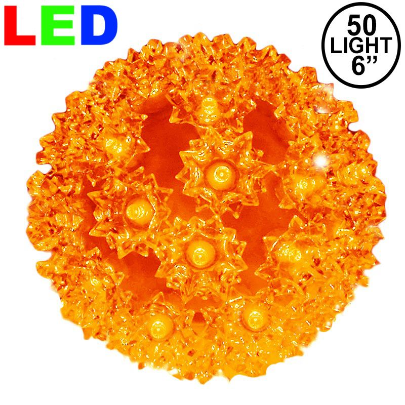 "Picture of 50 Orange LED 6"" Sphere"