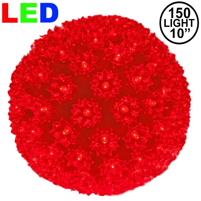 "Picture of 150 Red LED 10"" Sphere"