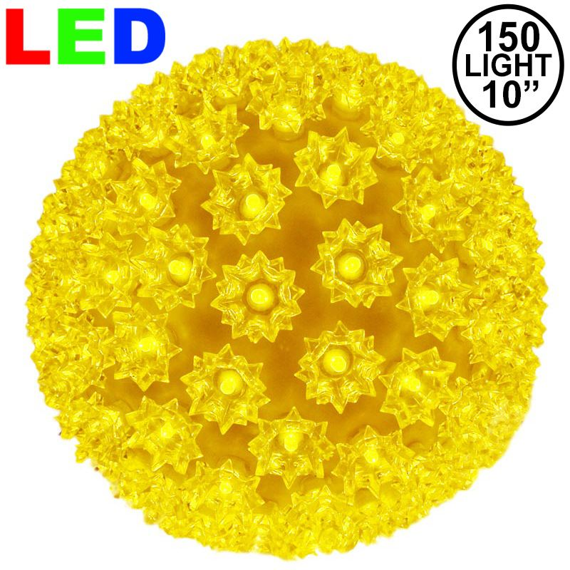 "Picture of 150 Yellow LED 10"" Sphere"