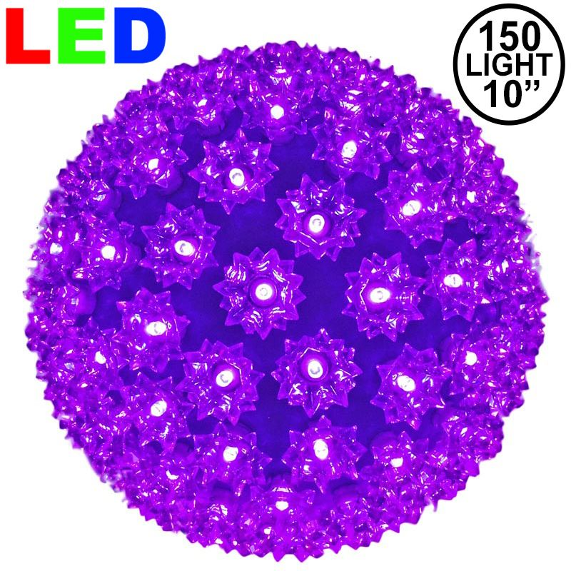 "Picture of 150 Purple LED 10"" Sphere"