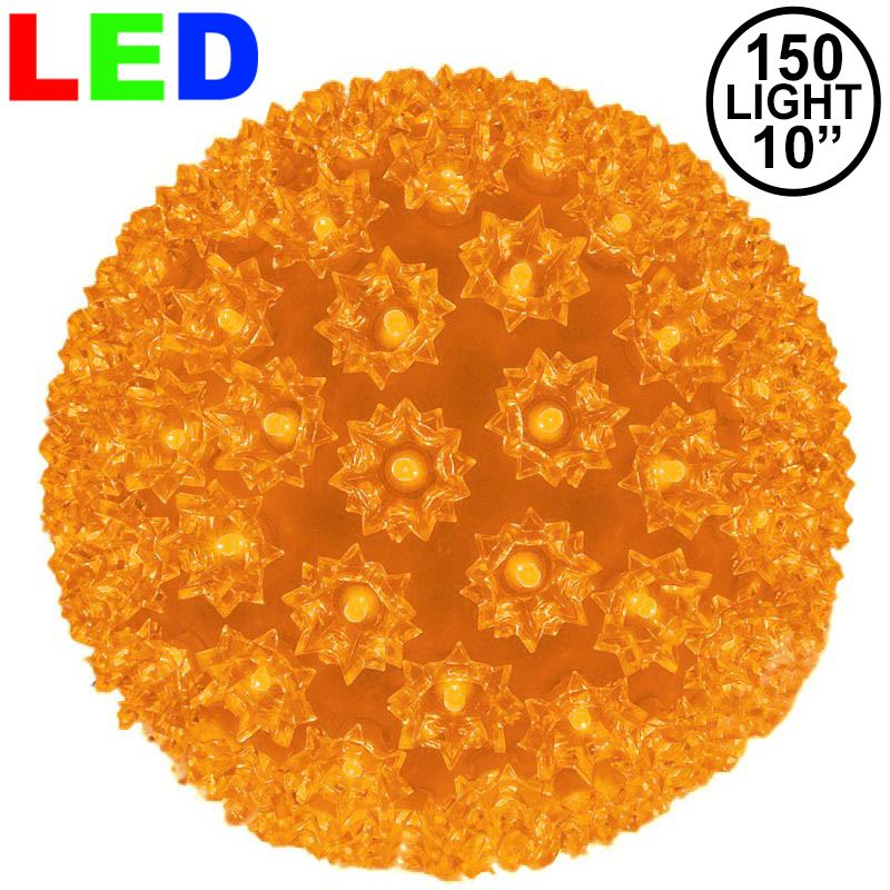 "Picture of 150 Orange LED 10"" Sphere"