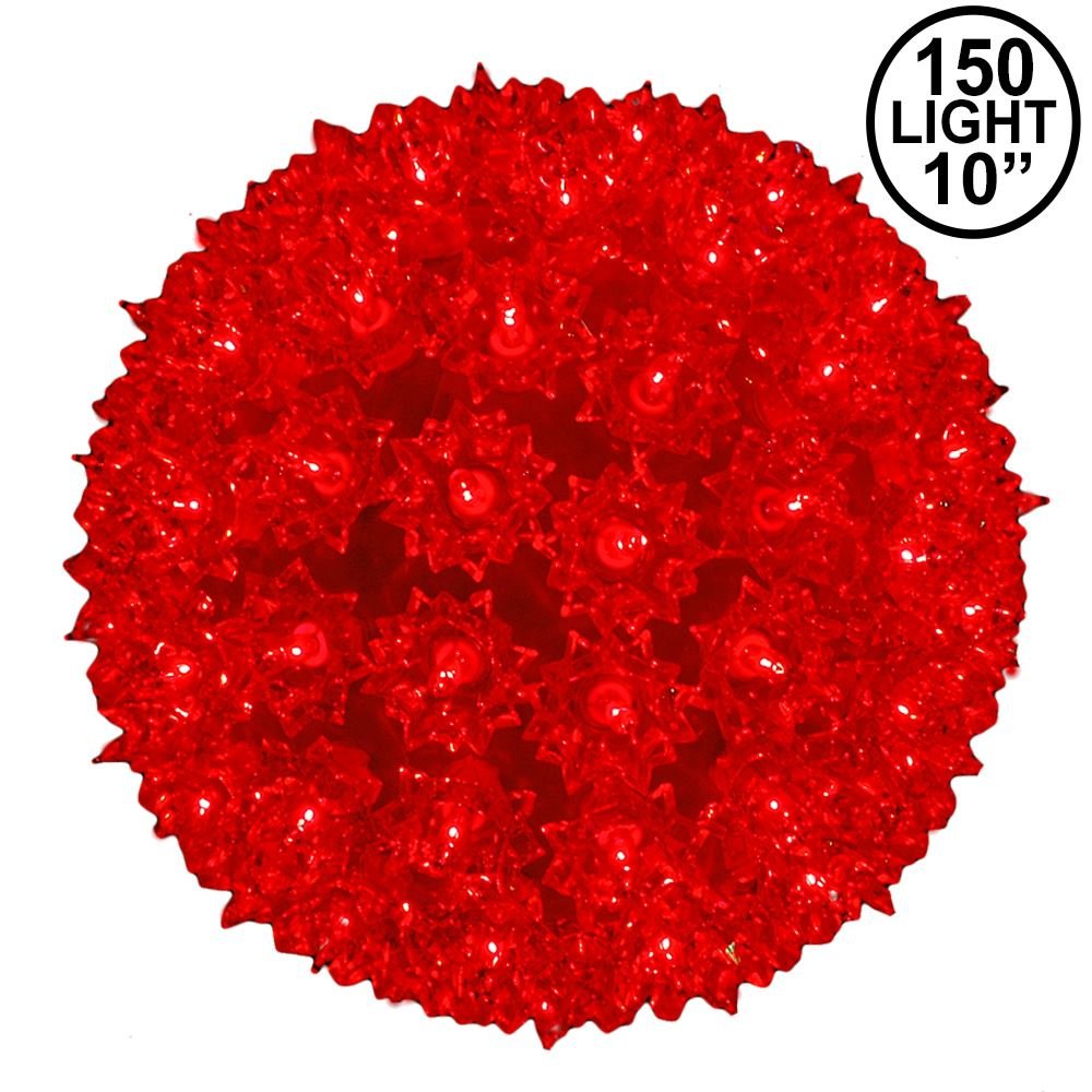 Picture of Red 150 Light Starlight Sphere 10""
