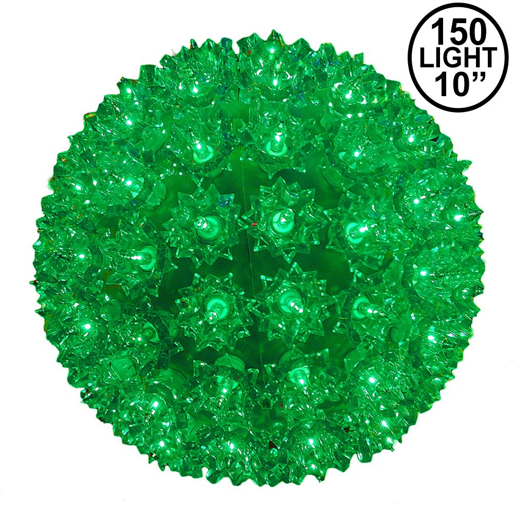 Picture of Green 150 Light Starlight Sphere 10""