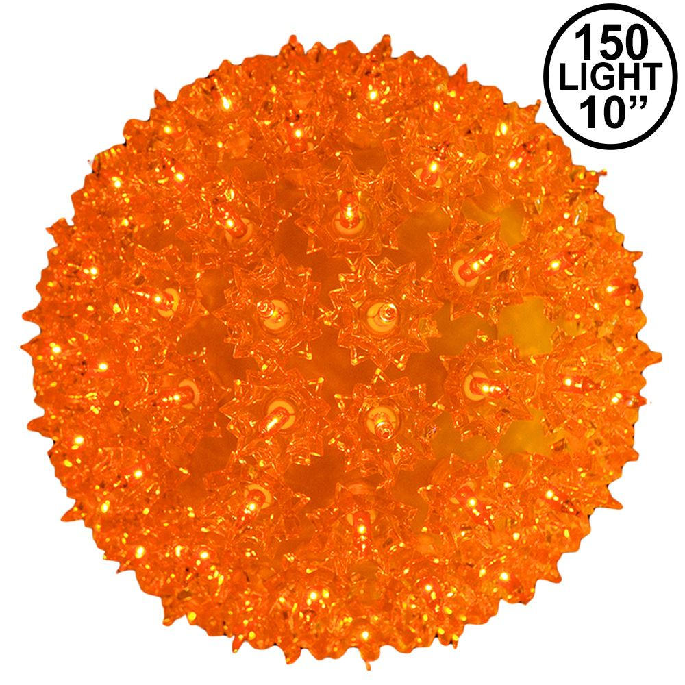 Picture of Amber/Orange 150 Light Starlight Sphere 10""