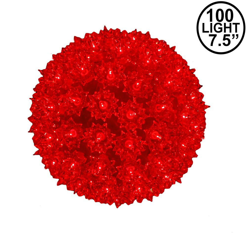 """Picture of Red 100 Light Starlight Sphere 7.5"""""""