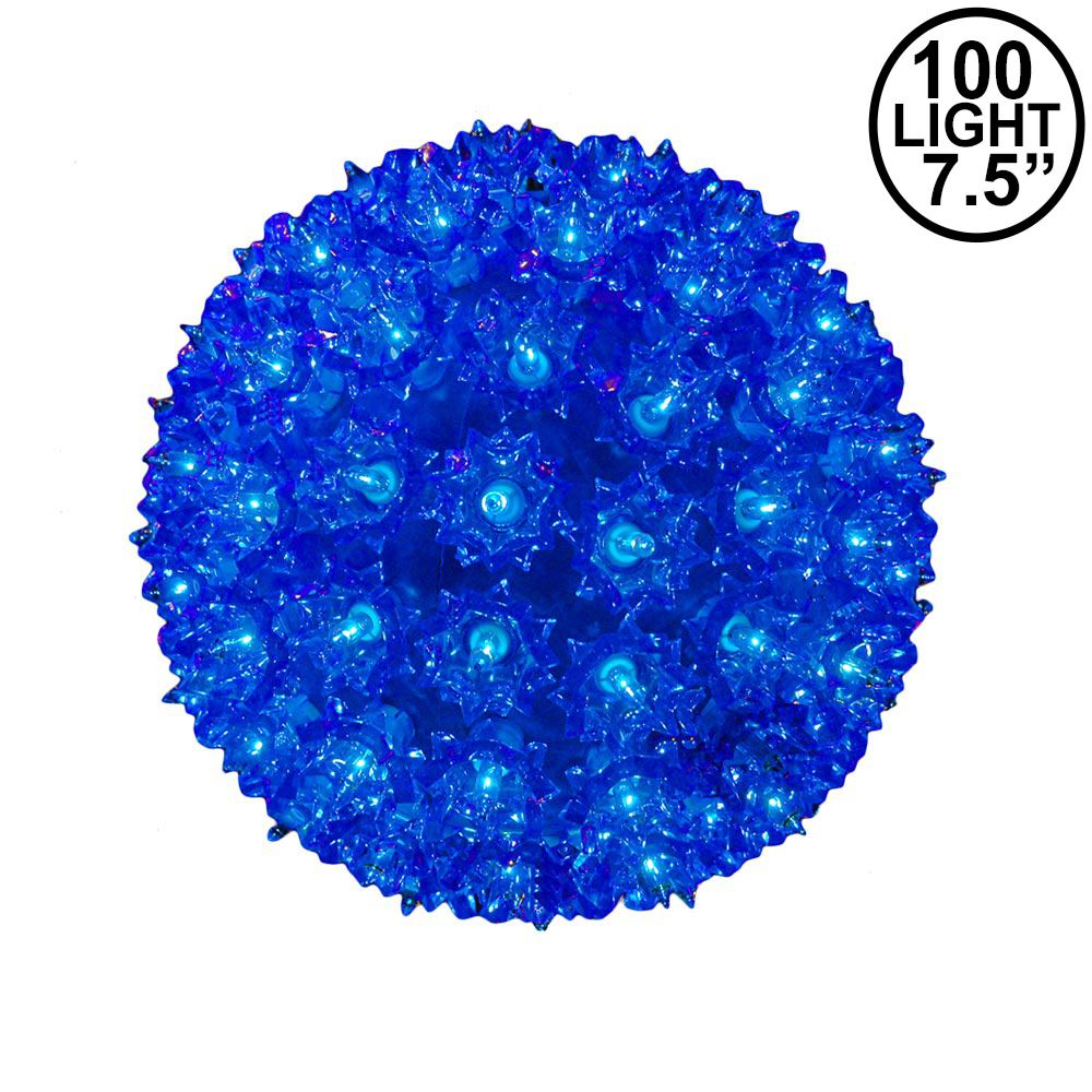 "Picture of Blue 100 Light Starlight Sphere 7.5"" **ON SALE**"