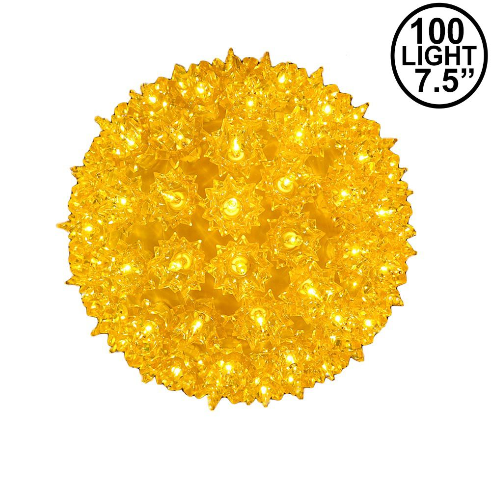 Picture of Yellow 100 Light Starlight Sphere 7.5""