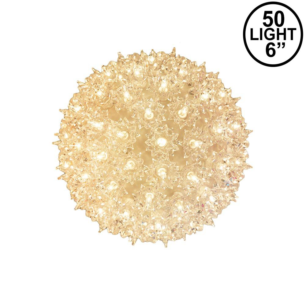 Picture of Clear 50 Light Mini Starlight Sphere 6""
