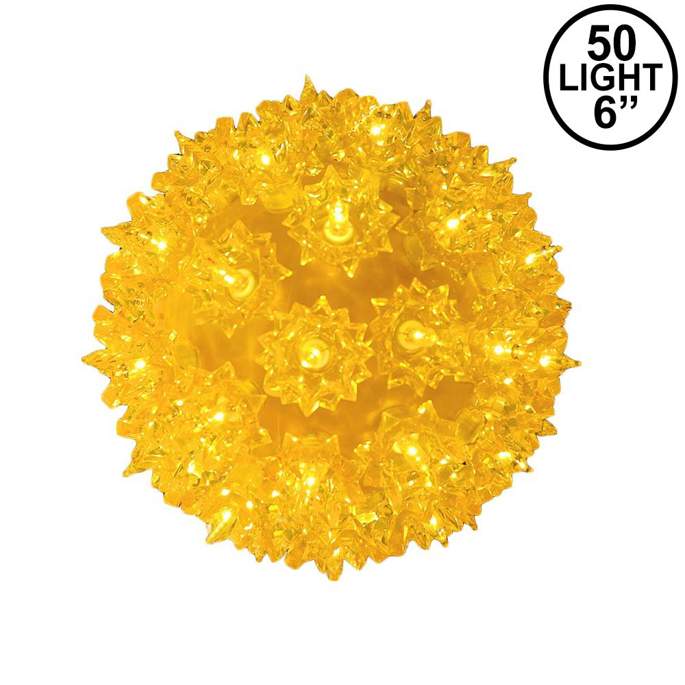 Picture of Yellow 50 Light Mini Starlight Sphere 6""