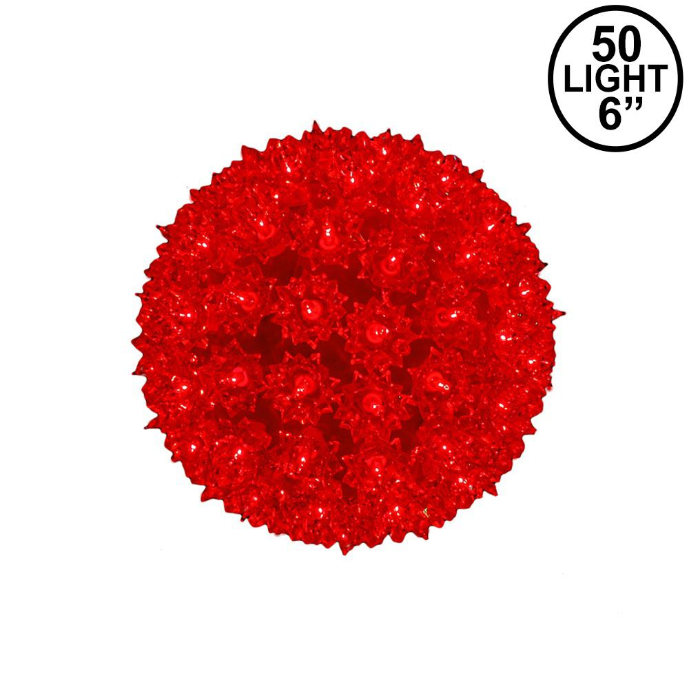 Picture of Red 50 Light Mini Starlight Sphere 6""