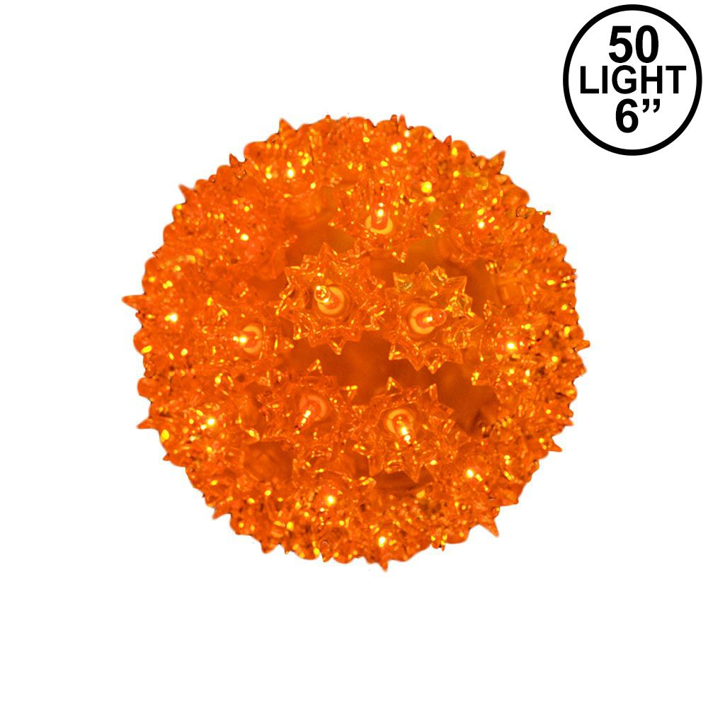Picture of Amber/Orange 50 Light Mini Starlight Sphere 6""