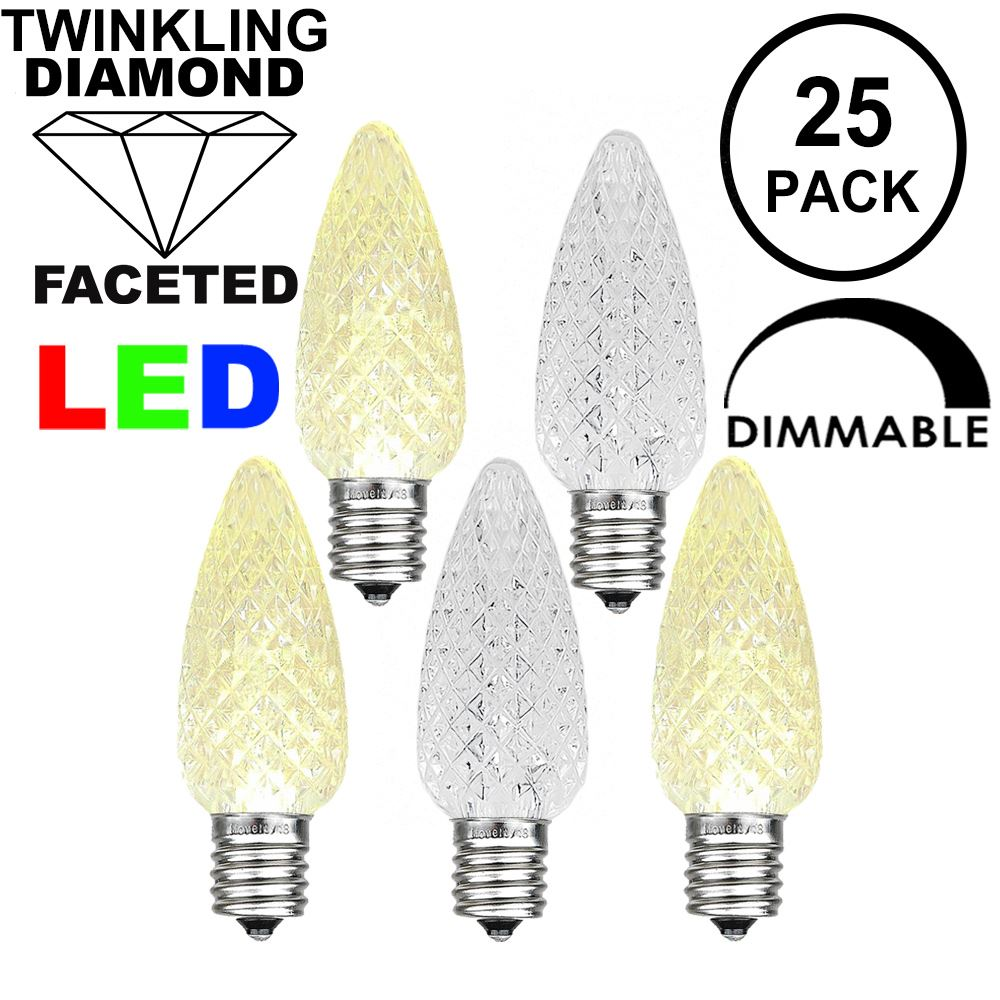 Picture of Twinkle Warm White C7 LED Replacement Bulbs 25 Pack