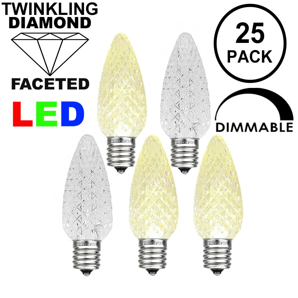 Picture of Twinkle Warm White C9 LED Replacement Bulbs 25 Pack