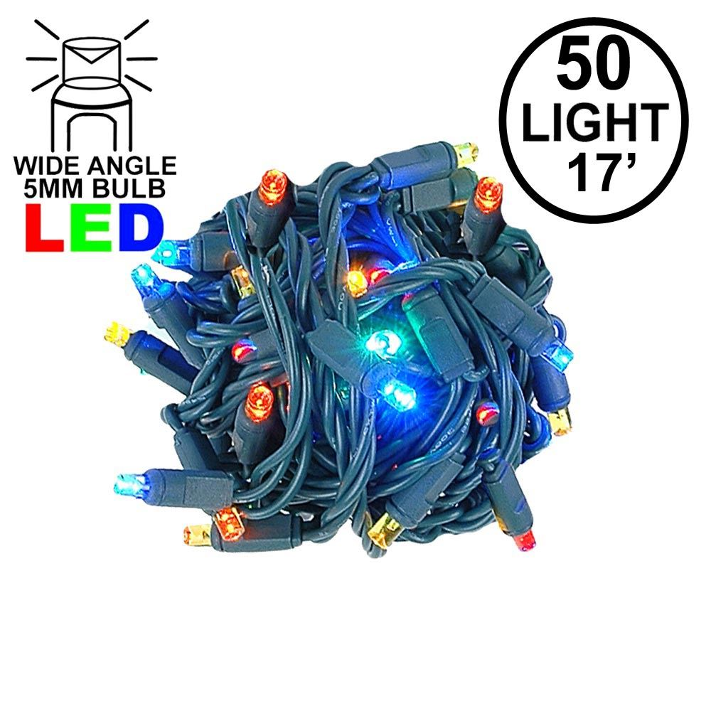 """Picture of Coaxial 50 LED Multi 4"""" Spacing Green Wire"""