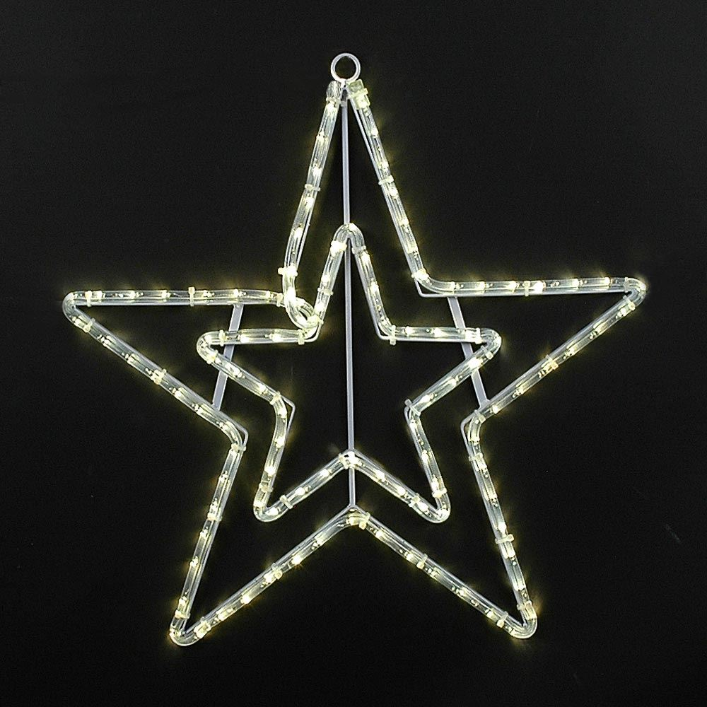"Picture of 20"" Double Star Christmas LED Rope Light Motif"
