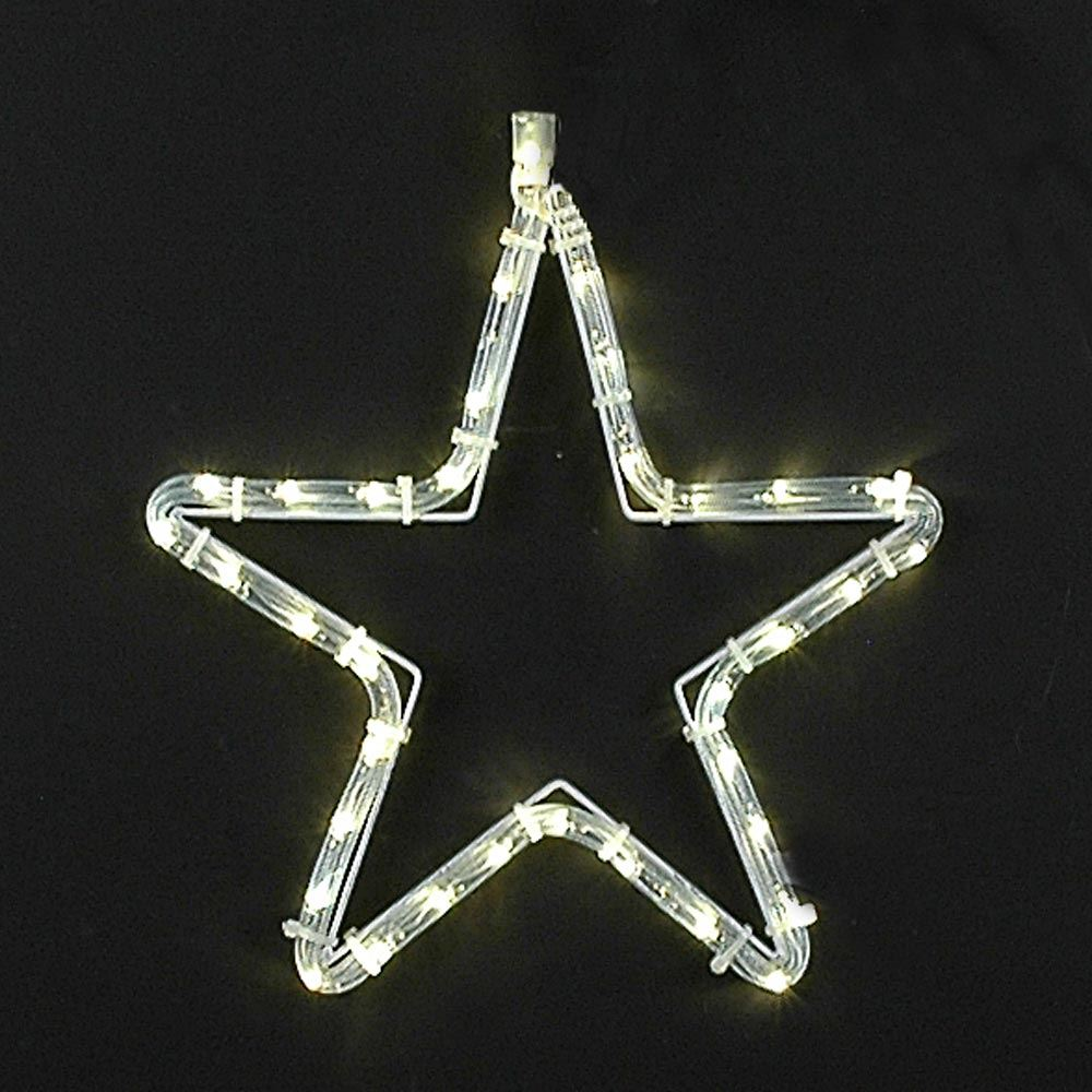 "Picture of 12"" Small Christmas Star LED Rope Light Motif"