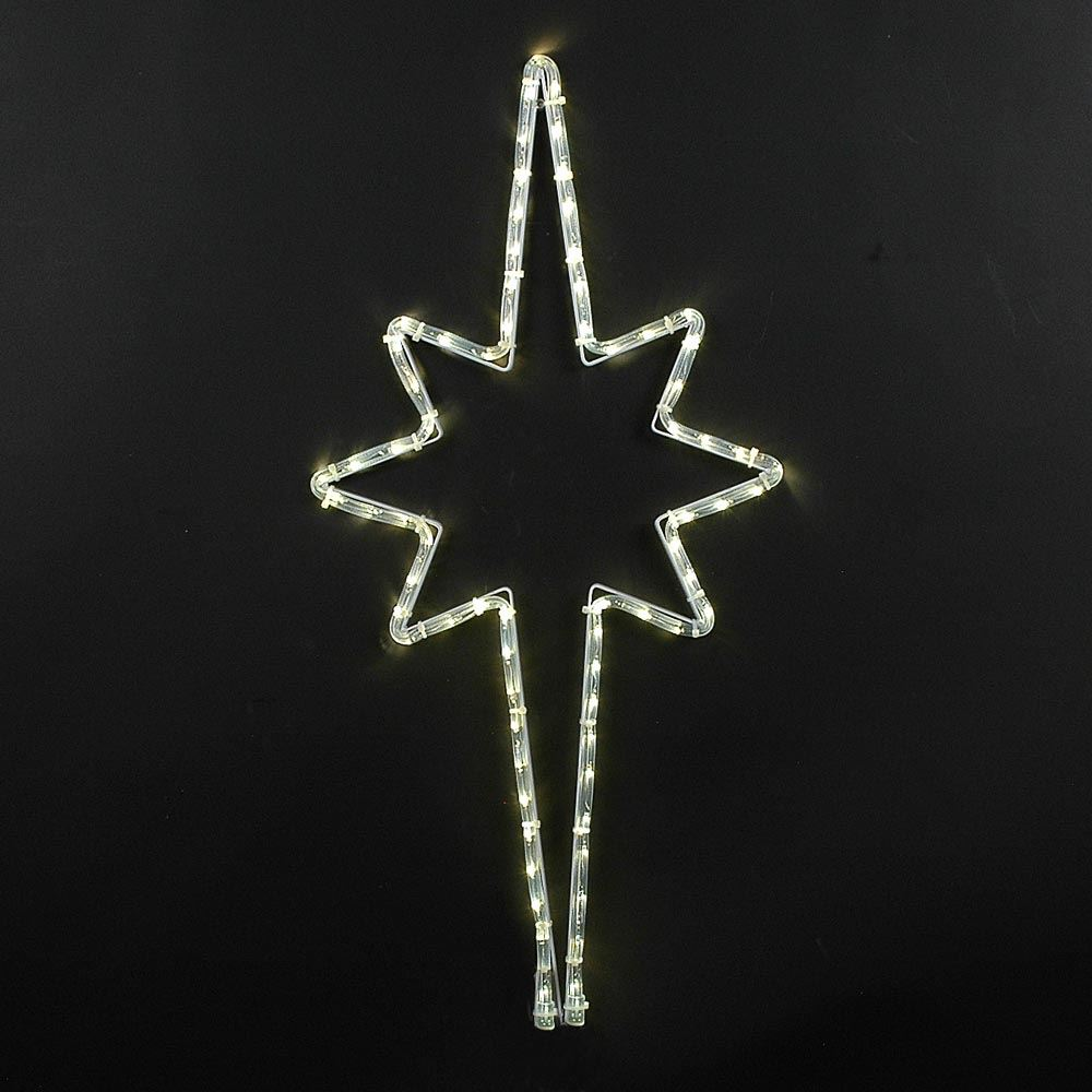 "Picture of 30"" Bethlehem Star LED Rope Light Motif"