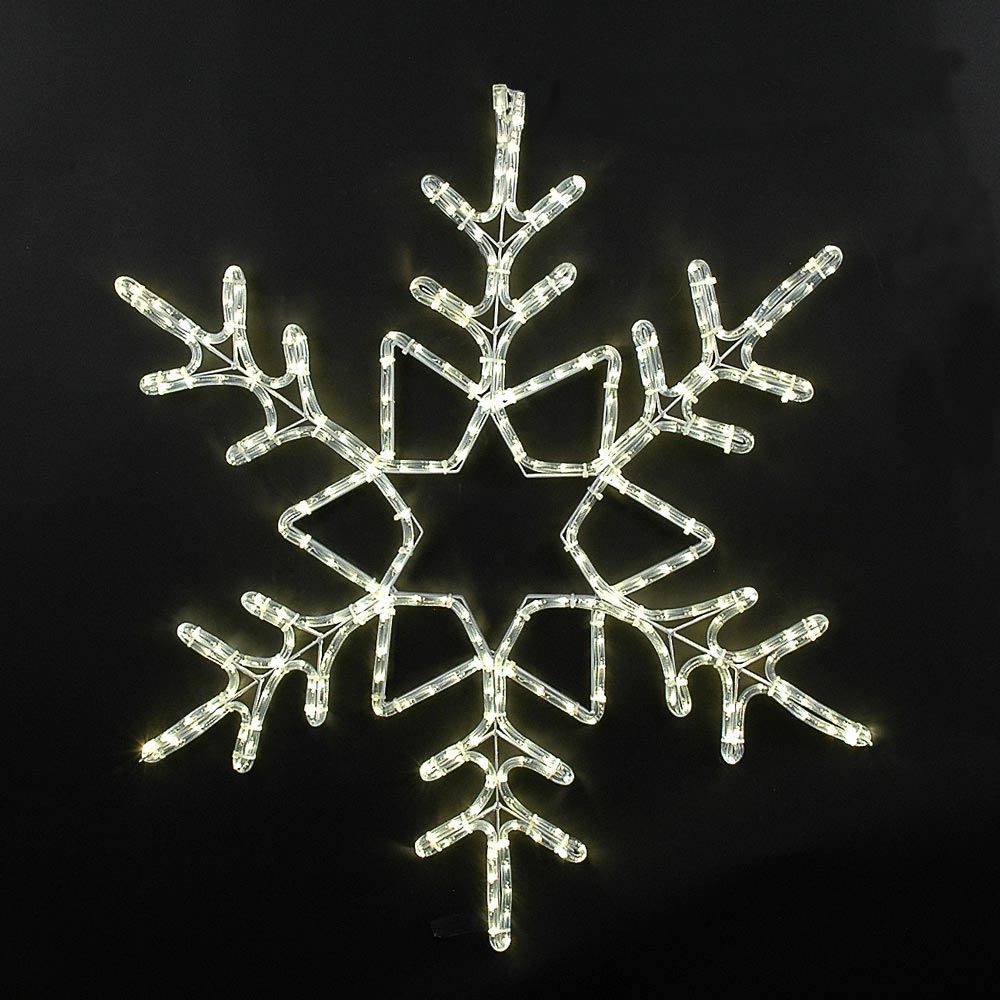"Picture of 36"" Deluxe LED Snowflake Warm White"
