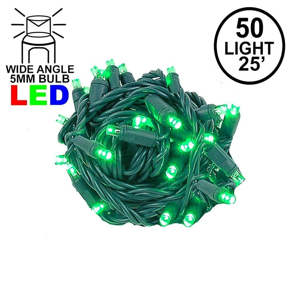 "Picture of Coaxial 50 LED Green 6"" Spacing Green Wire"