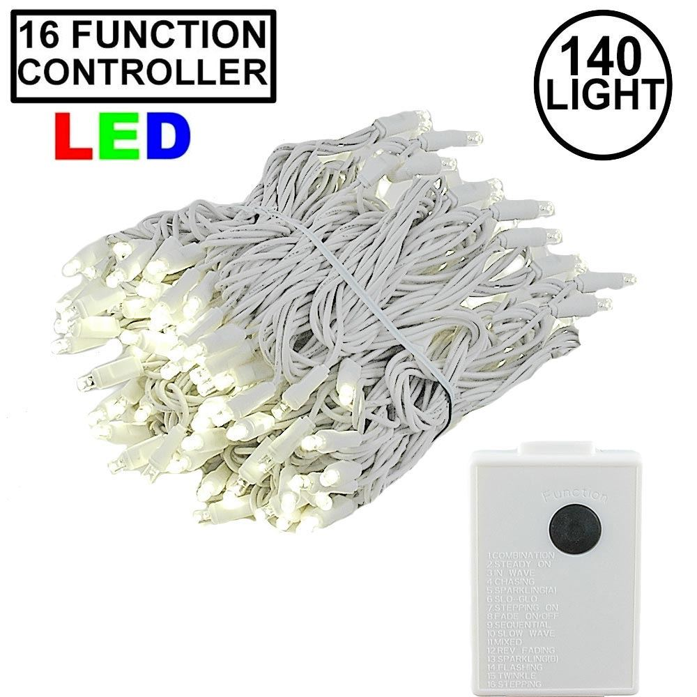 Picture of Warm White 140 LED Multi Function Chasing Christmas Lights