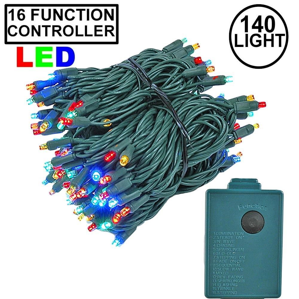 Picture of Multi Color 140 LED Multi Function Chasing Christmas Lights