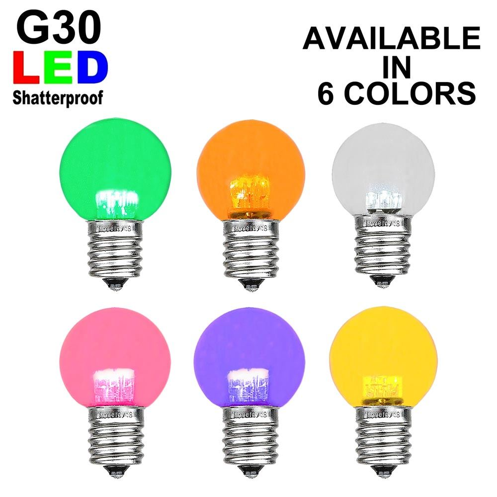 Picture of G30 LED Plastic E17 Base Globe Bulbs - 25pk ***ON SALE***