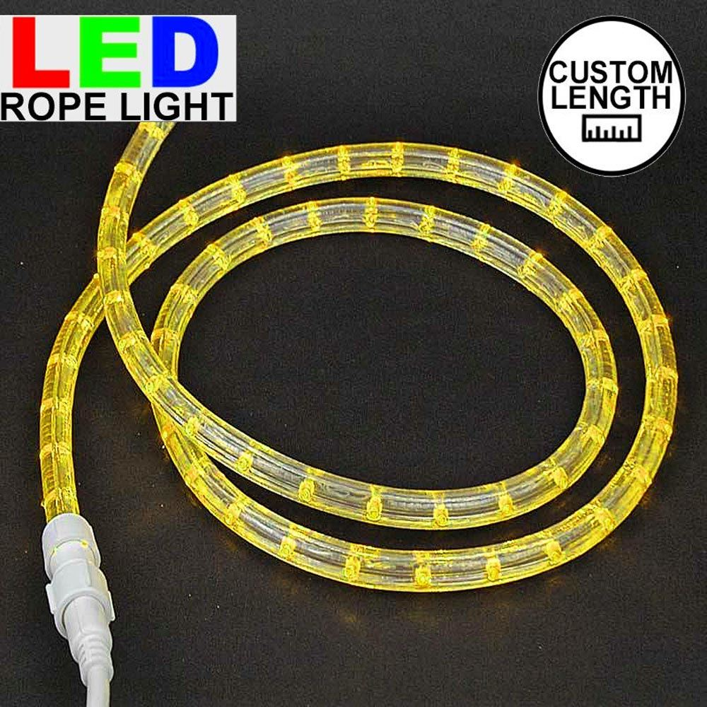 """Picture of Yellow LED Custom Rope Light Kit 1/2"""" 2 Wire 120v"""