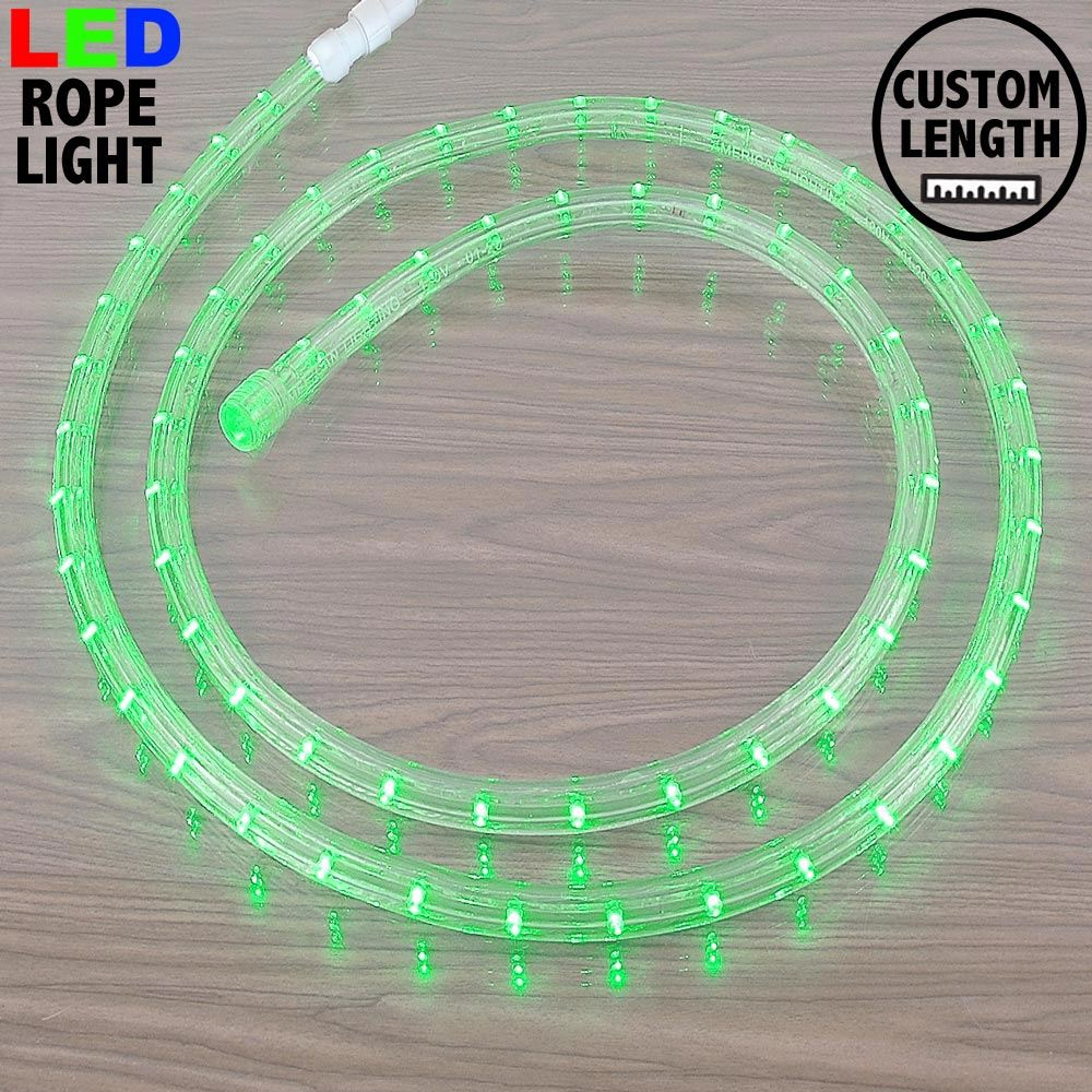 "Picture of Green LED Custom Rope Light Kit 1/2"" 2 Wire 120v"