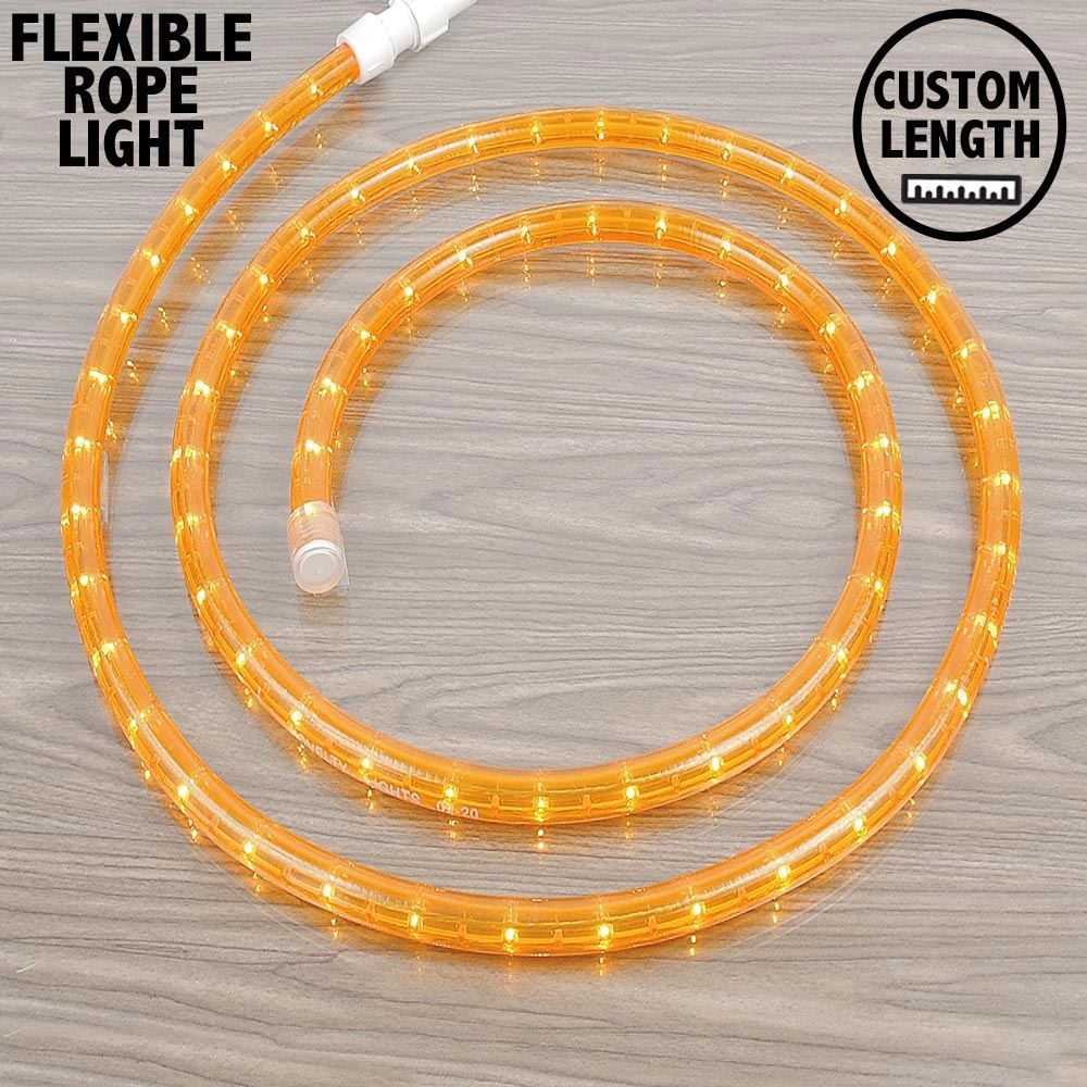 "Picture of Amber Rope Light Custom Cut 1/2"" 120V Incandescent"