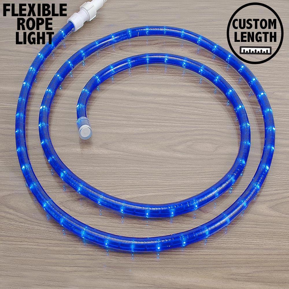 "Picture of Blue Rope Light Custom Cut 1/2"" 120V Incandescent *ON SALE*"