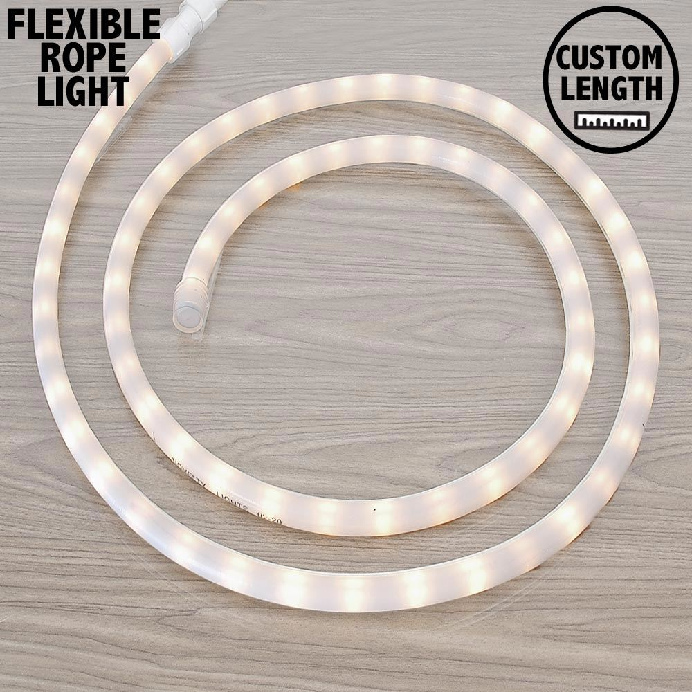 "Picture of Frosted White Rope Light Custom Cut 1/2"" 120V Incandescent"