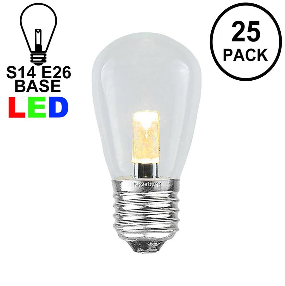 Picture of  Designer Series Ultra Warm White S14 LED Medium Base e26 Bulbs 25 Pack