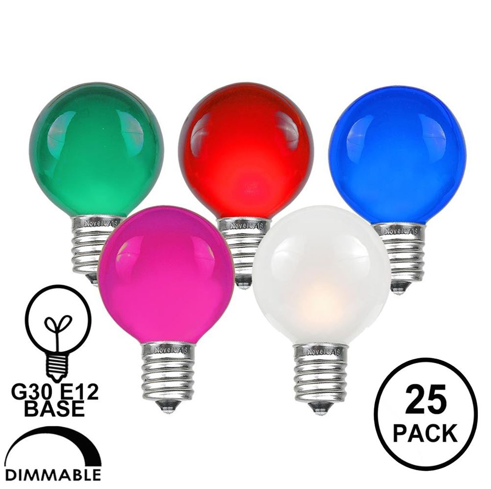 Picture of Assorted Satin G30 5 Watt Replacement Bulbs 25 Pack