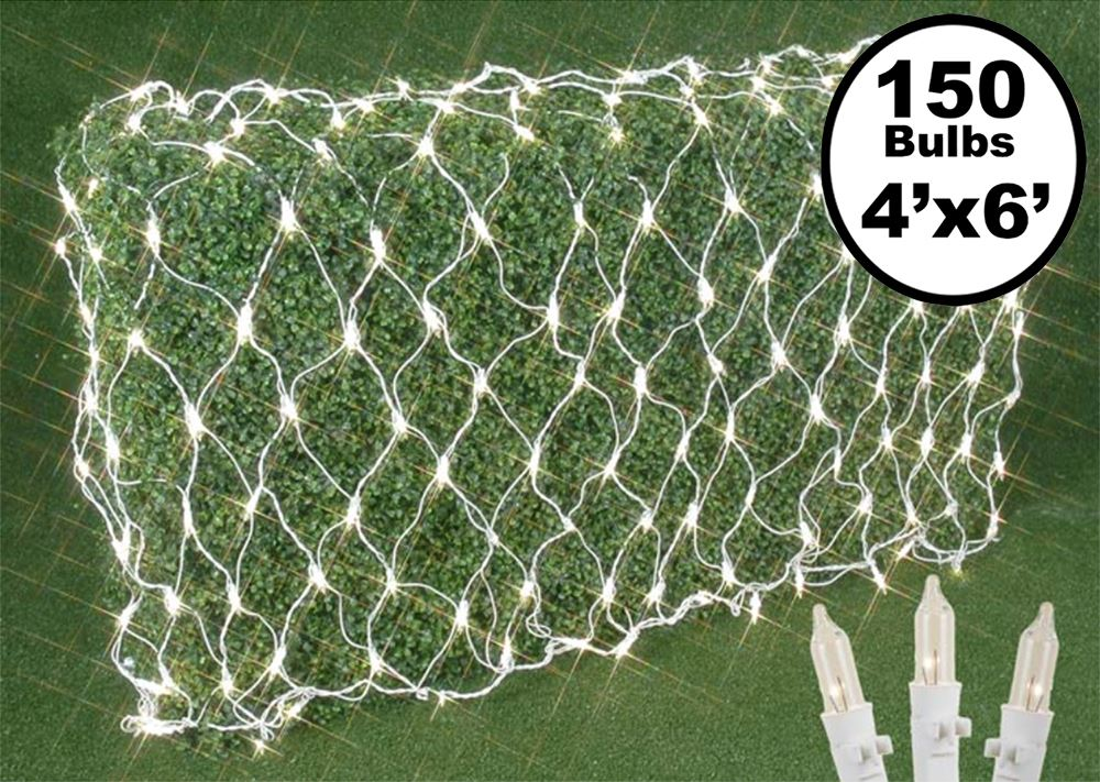 Picture of 4' X 6' Pro-Grade Net Lights - White Wire