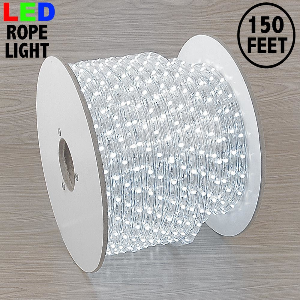"Picture of Pure White LED Spool 150' 1/2"" 2 Wire 120V"