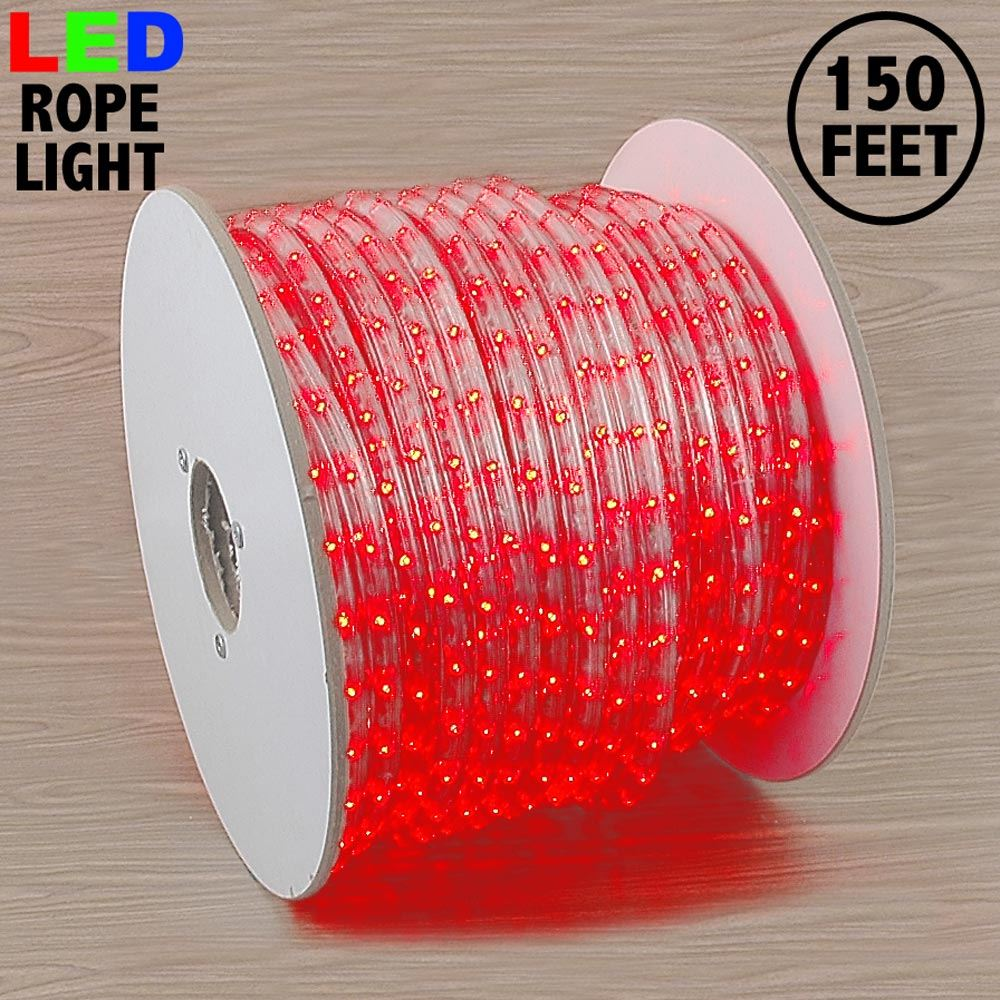 "Picture of Red LED Spool 150' 1/2"" 2 Wire 120V"