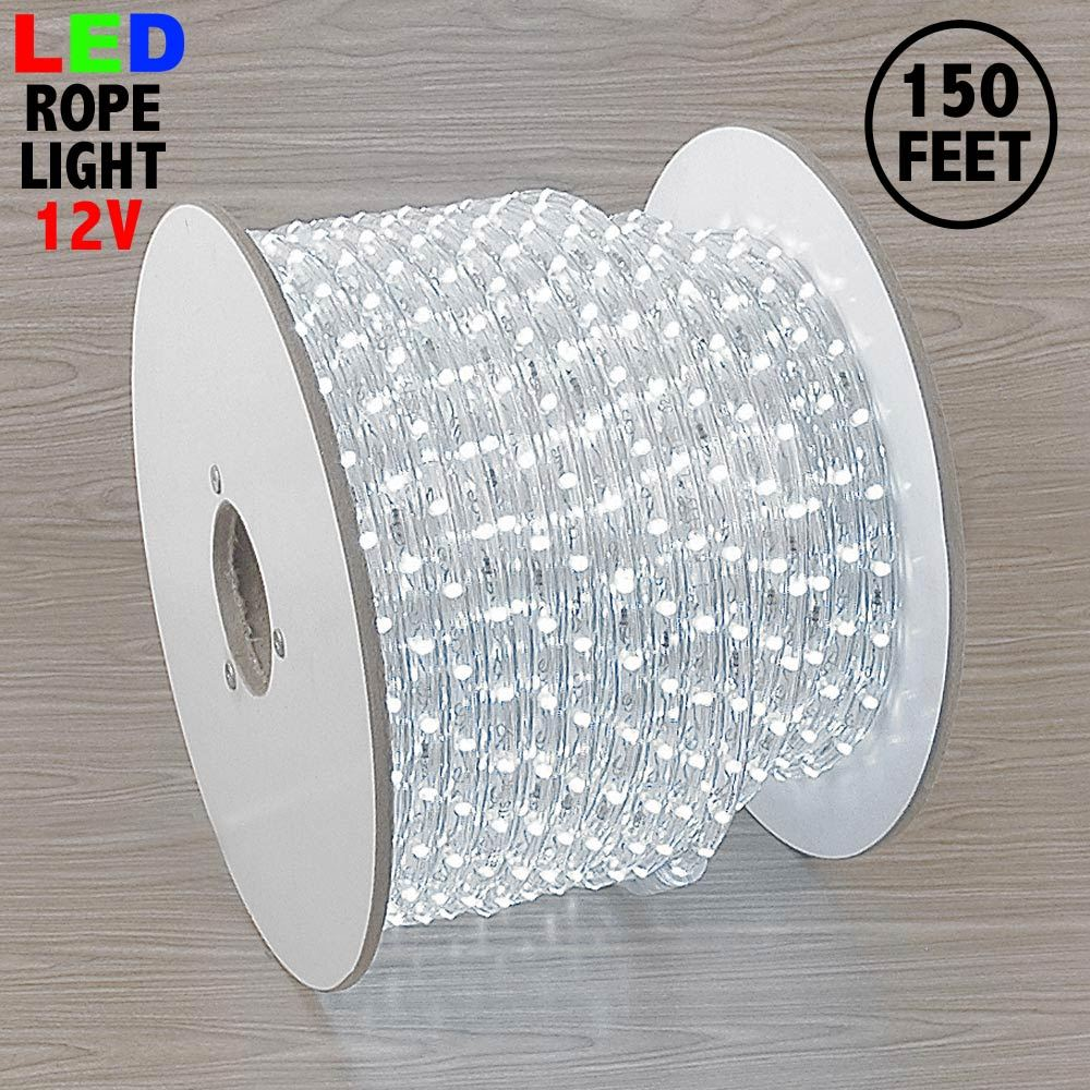 "Picture of Pure White LED Spool 150' 1/2"" 2 Wire 12V"