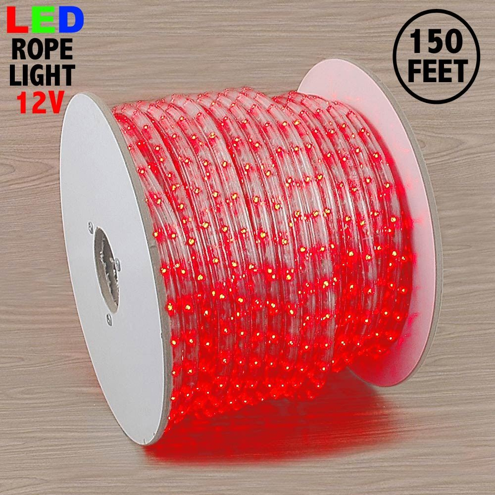 """Picture of Red LED Spool 150' 1/2"""" 2 Wire 12V"""