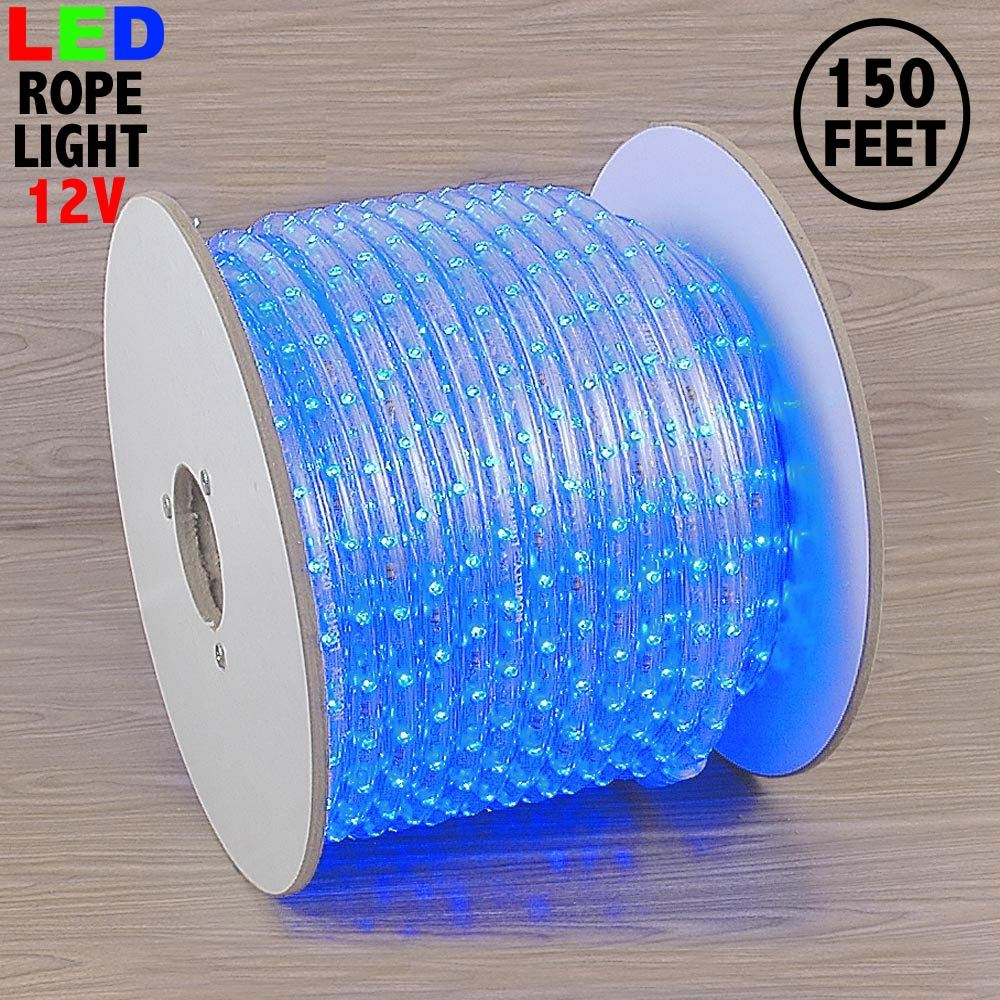 "Picture of Blue LED Spool 150' 1/2"" 2 Wire 12V"