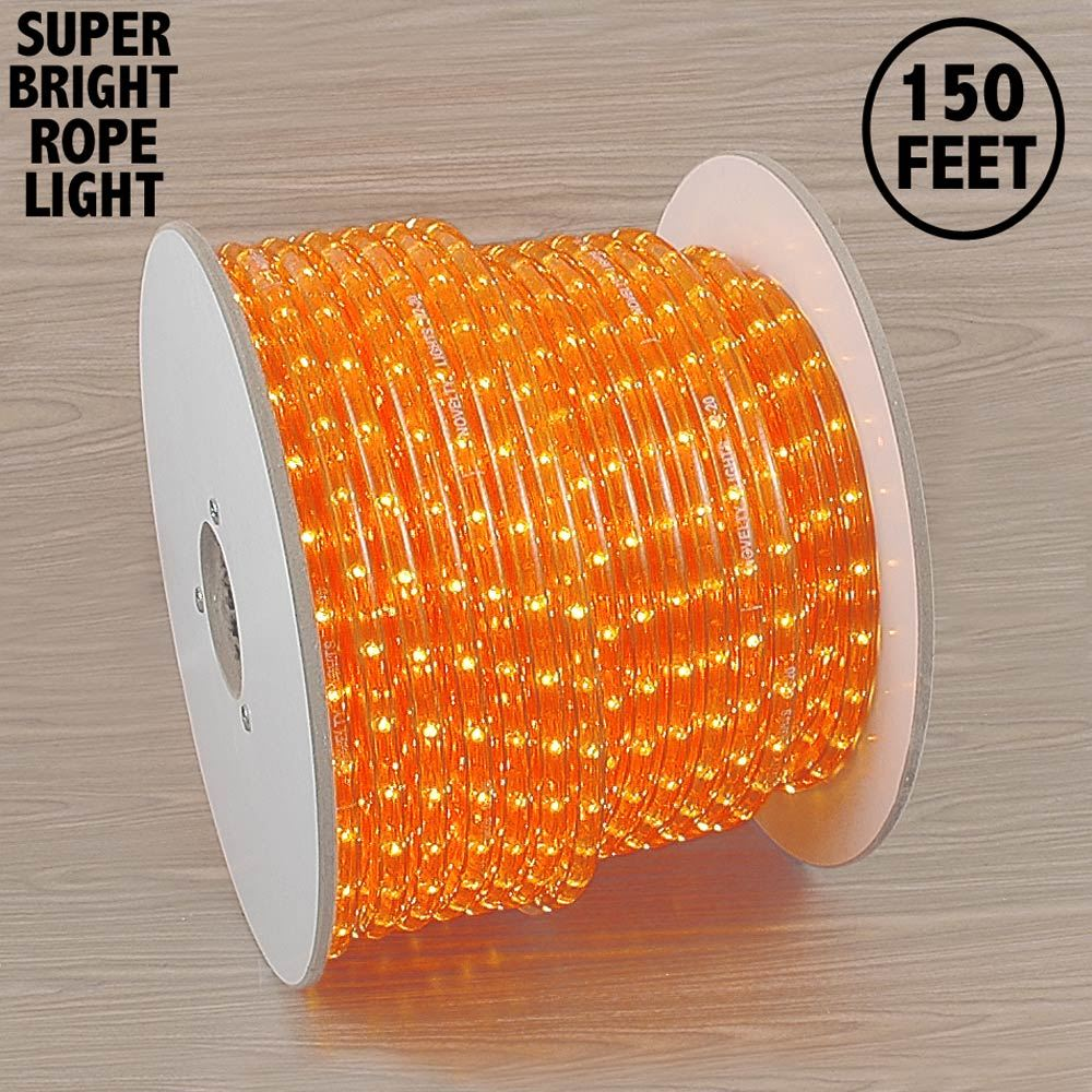 "Picture of 150 Ft Amber/Orange Rope Light Spool 1/2"" 120 Volt"