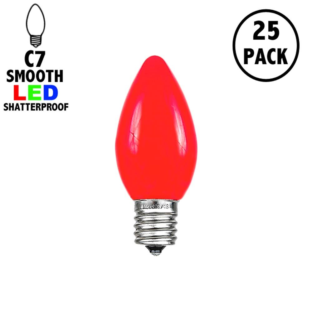Picture of C7 - Red - Ceramic (plastic) LED Replacement Bulbs - 25 Pack