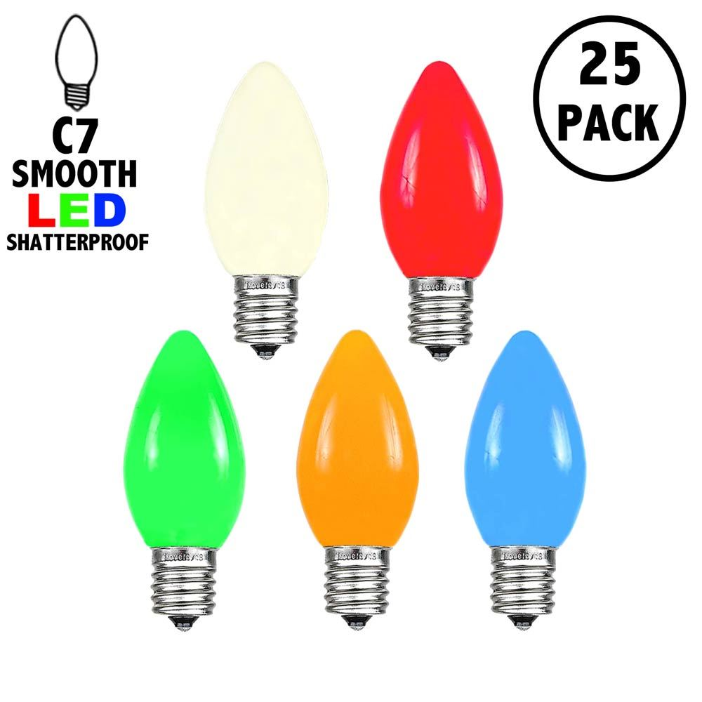 Picture of C7 - Multi - Ceramic (plastic) LED Replacement Bulbs - 25 Pack