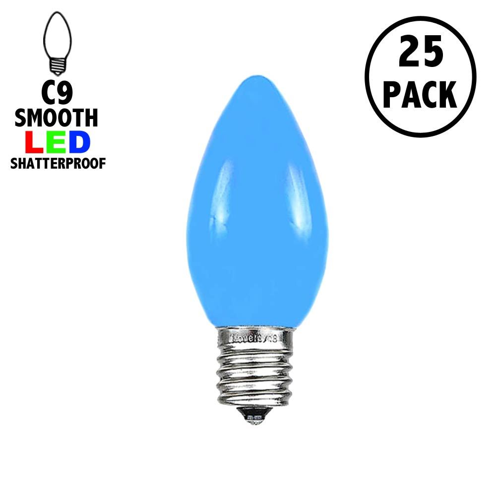 Picture of C9 - Blue - Ceramic (plastic) LED Replacement Bulbs - 25 Pack