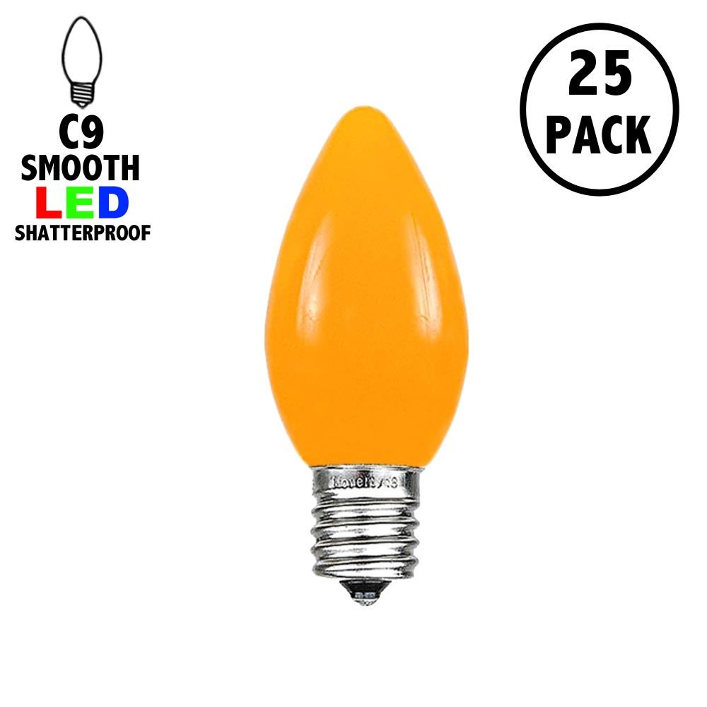 Picture of C9 - Orange - Ceramic (plastic) LED Replacement Bulbs - 25 Pack
