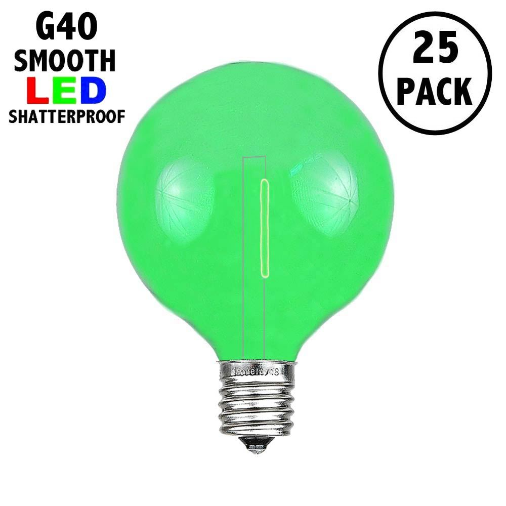 Picture of Green - G40 - Plastic Filament LED Replacement Bulbs - 25 Pack