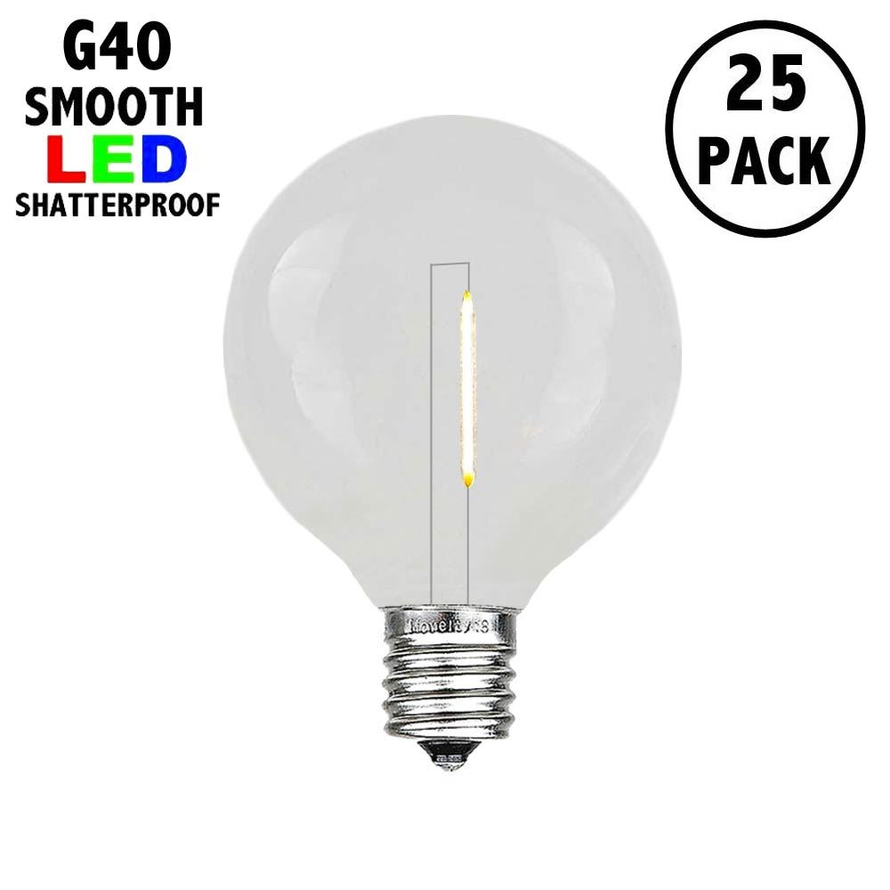 Picture of Warm White - G40 - Plastic Filament LED Replacement Bulbs - 25 Pack